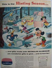 Reynolds Aluminum Hinting Season Walt Disney Ad 1957