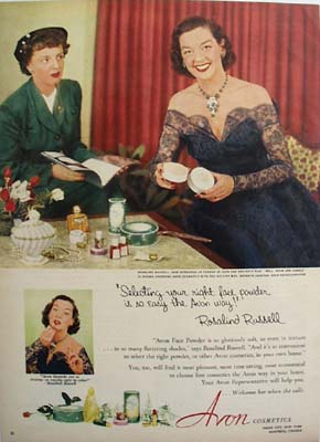 Avon and Rosalind Russell Ad 1952