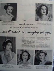 Ponds Cold Cream Worlds Loveliest Women Ad 1953