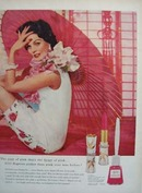 Revlon Butterfly Pink Ad 1958