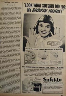 Sofskin Crme Softens Dryskin Hands Ad 1950
