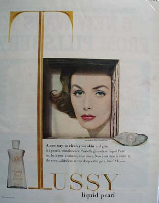 Tussy Liquid Pearl New Way To Clean Skin Ad 1958