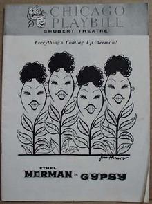 Shubert Theatre Playbill Gypsy,