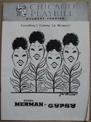Shubert Theatre Playbill Gypsy,