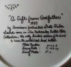 A gift from Godfather by Shell Fisher Plate