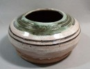 Hand thrown stoneware vase in natural coloring
