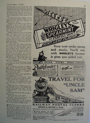 Wrigleys Spearmint Men Rowing Boat Ad 1928