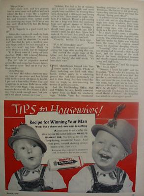 Wrigleys Spearmint gum Winning Your Man Ad 1952