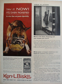 Ken L Biskit And Boxer Puppy Ad 1962