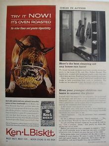Ken L Biskit And Boxer Puppy Ad 1962