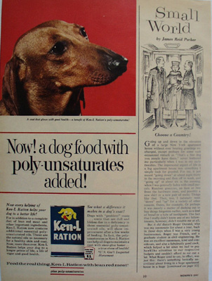 Ken L ration Dog Food And Dachshund Ad 1963