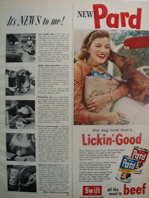 Pard Dog Food And Dachshund Ad 1959