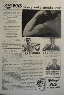 Kelloggs Bran Flakes Everybody Needs Pep Ad 1937