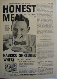 Nabisco Shredded Wheat Honest Meal Ad 1951