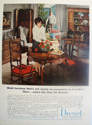 Drexel Furniture Not As Expensive As It Looks Ad 1966