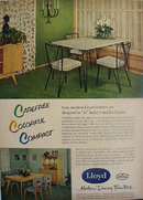 Lloyd Mfg Co Dinettes Carefree Ad 1954