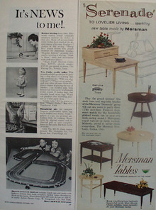 Mersman Tables Serenade Ad 1960