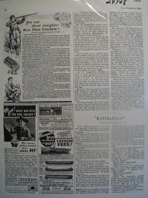Peters Cartridge Shoot Straighter Davy Crockett Ad 1929