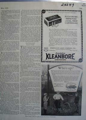 Kleanbore Cartridges Improved 22 Cal Shot Ad 1928