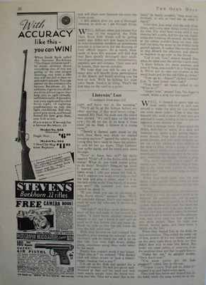 Stevens Rifle Accuracy Can Win Ad 1937