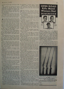 Winchester Rifle Match Winners Ad 1938