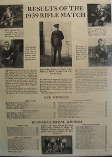 Results of the 1939 Rifle Match Ad 1940