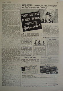 Hohner Harmonica Parties Are Fun Ad 1935