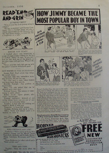 Hohner Harmonica Jimmy Most Popular Boy Ad 1936