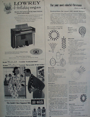 Lowery Organ Christmas Ad 1957