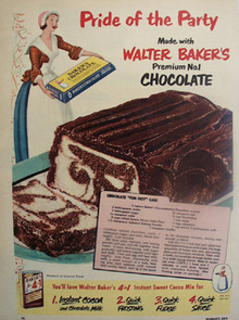 Bakers Chocolate Pride of The Party Ad 1951