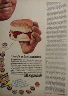 Bisquick Heres A For Instance Ad 1953