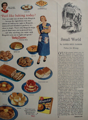 Bisquick Feel Like Baking Today Ad 1954