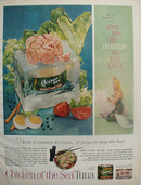 Chicken Of Sea Tuna Look for Mermaid Ad 1959