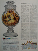 Calif. Raisin Christmas Ad 1962
