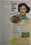 Star Kist Tuna And Gene Tierney Ad 1951