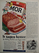 Wilsons Mor Hickory Smoked Sugar Cured Ad 1954