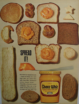 Cheez Whiz Spread It Ad 1965