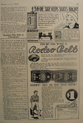 Rodeo Belt Bet You Want And Buzz Barton Ad 1934