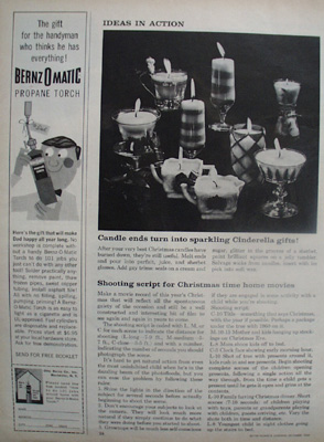 Make Candle Ends Into Cinderella Gifts Article 1960