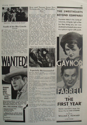 Movie First Year Janet Gaynor And Charles Farrell Ad 1932