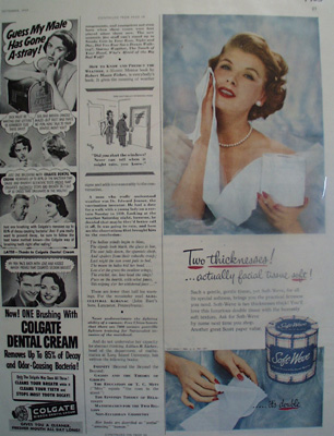 Soft Weve Bathroom Tissue Facial Tissue Soft Ad 1953