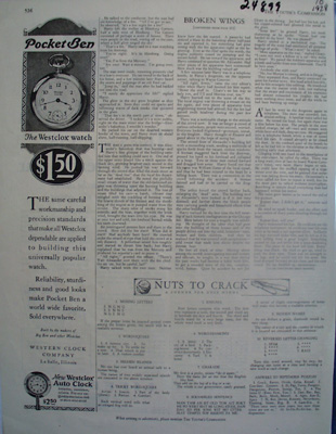 Western Clock Co Pocket Ben Ad 1928