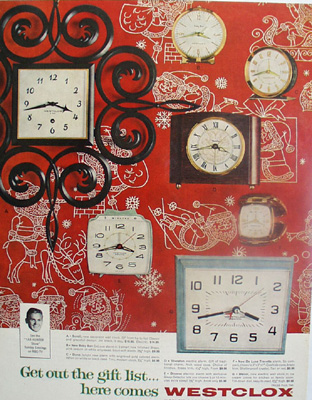 Westclox Clocks Christmas Ad 1960