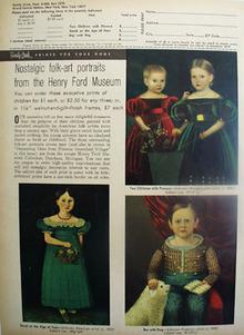 Nostalgic Folk Art Portraits. Ad 1965