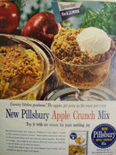 Pillsbury Apple Crunch Mix Ad 1959