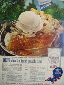 Pillsbury Best Idea Fresh Peach Time Ad 1959