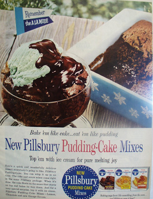 Pillsbury Pudding Cake Mix Ad 1959