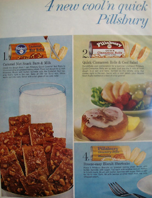 Pillsbury Four Cool And Quick  Ad 1959