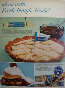 Pillsbury Ideas With Fresh Dough Foods Ad 1959