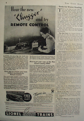 Lionel Trains Hear the Chugger Ad 1933